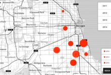 Interactive map of closed clinics