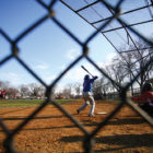 The Tilden Blue Devils handily won their late March game against DuSable. Coach Alberto Simental wants his players to have a good experience because baseball was important to him growing up.