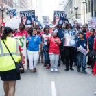 At a June 9 rally to promote the CTU's contract demands, community groups and other unions joined in, including the Amalgamated Transit Workers (pictured here).