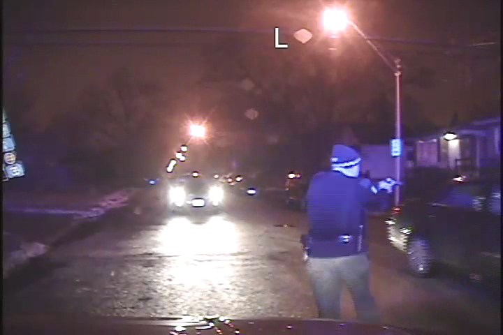 Police shooting dashcam footage