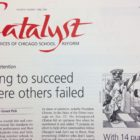 Cover of Catalyst issue on student retention, April 1998.