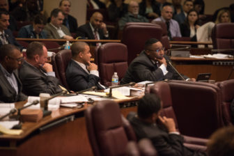 Ald. Jason Ervin (28th) questions Chicago police Supt. Garry McCarthy on Tuesday.