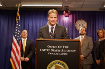 U.S. District Attorney for the Northern District of Illinois Zachary Fardon announces the indictment of former CPS CEO Barbara Byrd-Bennett at a Thursday press conference.
