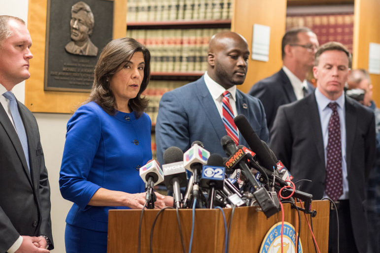 Cook County State's Attorney Anita Alvarez announces that Chicago Police Officer Jason Van Dyke will be charged with first degree murder in the shooting of 17-year-old Laquan McDonald during a press conference at Cook County Circuty Court on Nov. 24.