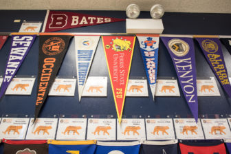Noble's focus on college is a big draw. At the original campus in West Town, college pennants and a list of alumni who attend each school line the walls.