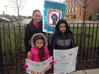Prieto parent Erika Mendez and her two children