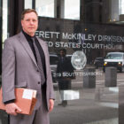Attorney Chris Williams visits the Northern Illinois District Court in Chicago. His law firm, Workers' Law Office, has sued six temp agencies and many of their clients for excluding black job applicants.