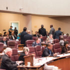 Rev. Samuel Paul and other members of the Community Renewal Society disrupt City Council before their vote on the Civilian Office of Police Accountability on October 5, 2016.