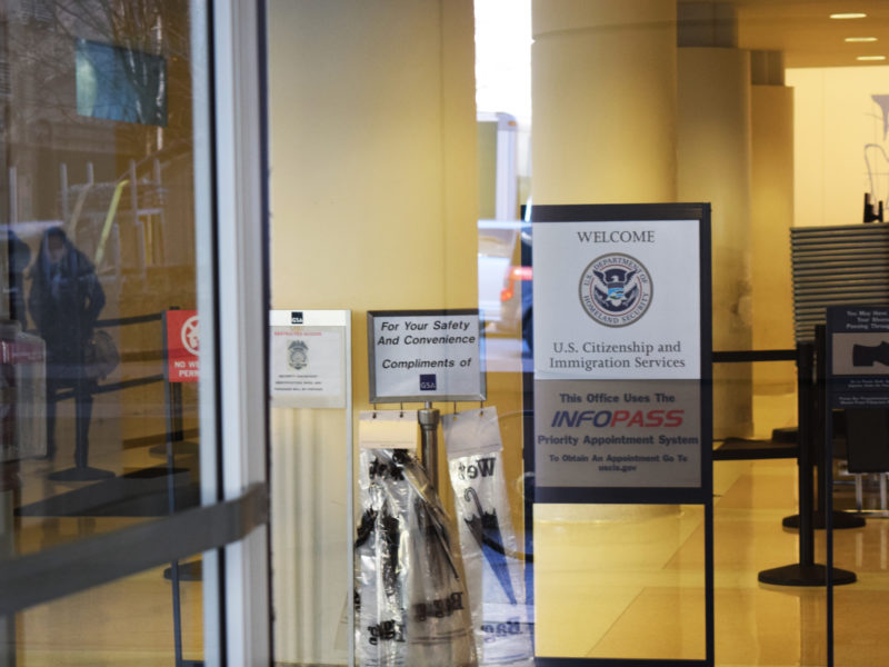 The USCitizenship andImmigration ServicesfieldofficeinChicago at101W. Congress Parkway.