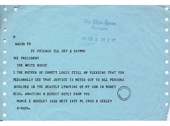 Mamie Till-Mobley telegram
