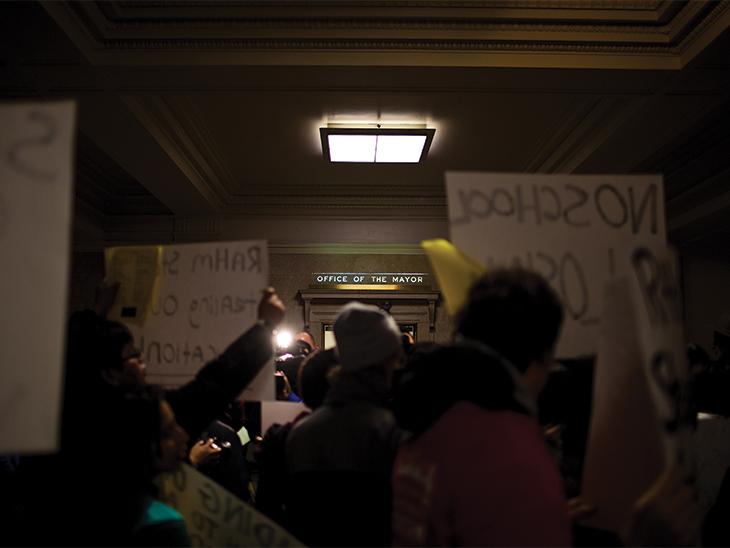 School closings protest