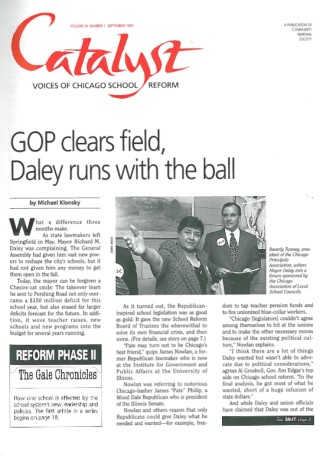 Catalyst Chicago issue cover, published Sep 1995