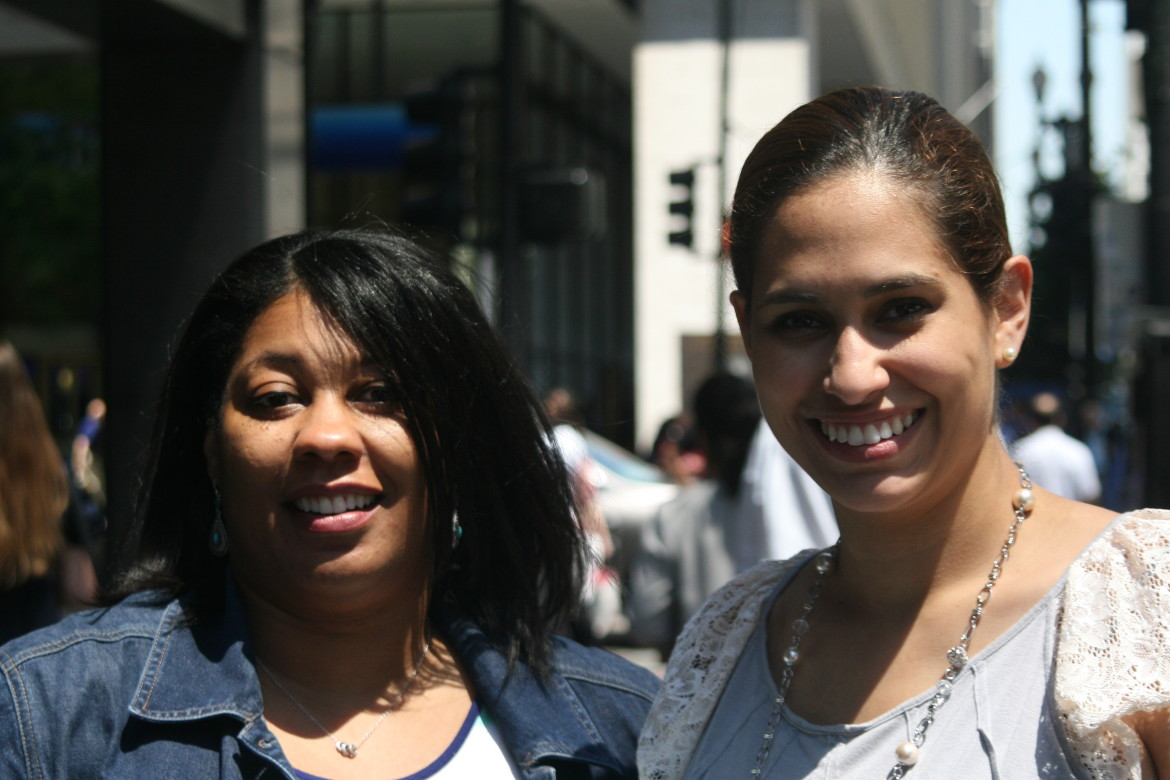 Democrats for Education Reform Policy Director Angela Rudolph (left) and State Director Rebeca Nieves Huffman (right) say they have mistakenly been called anti-union outsiders.