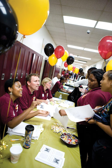 In fall 2011, Marshall High welcomed students to an upgraded facility and a brand-new staff, thanks to a federal School Improvement Grant.